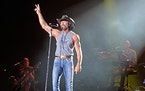 Tim McGraw, who gave his sixth concert audience at the grandstand on Wednesday, had a near-capacity crowd of 12,480 (the largest at the grandstand thi