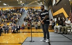Apple Valley High School played host to Gable Steveson Day, celebrating the Olympic wrestling gold medalist who graduated from the high school in 2018