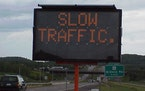 On holiday weekends, we don't usually need the sign to know that traffic is slow.