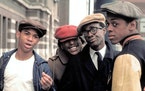 """Corin Rogers, Joseph Carter Wilson, Glynn Turman and Lawrence Hilton-Jacobs in 1975's """"Cooley High."""""""