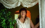 Forgiveness expert Mary Hayes Grieco posed for a portrait in her home in Minneapolis in August.