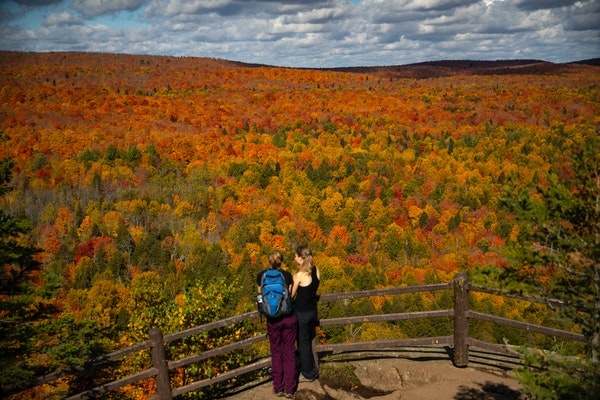Oberg Mountain on Minnesota's North Shore offers an infinite expanse of fall color in Superior National Forest.