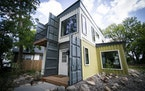 David Schiller, co-owner of Paragon Designs, built a house that was made from five shipping containers - four 40-feet and one 20-footer. The north Min