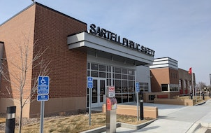 Sartell's public safety facility, which houses the police and fire departments, is pictured Tuesday, March 9, 2021.