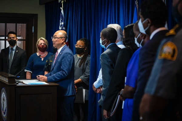 Ramsey County Attorney John Choi spoke in September during a press conference at the Ramsey County Attorney's office.