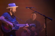 Dave Simonett, left, and Tim Saxhaug returned to the road to play Tennessee's Caverns Amphitheater in June.