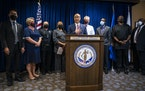 Ramsey County Attorney John Choi, joined by county and St. Paul city leaders, announced Wednesday that his office will no longer prosecute most felony