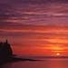 The sun rises on Lake Superior in autumn, 2006.