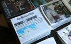 Stacks of the student run Michigan Daily newspaper sit in the newsroom in Ann Arbor, Mich., on Oct. 10, 2019. In the decade since the closure of The A