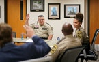 Hennepin County Sheriff David Hutchinson presided over a planning meeting in 2019.