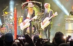 ZZ Top guitarist Billy Gibbons, left, with new bassist Elwood Francis at the Wayzata Beach Bash Friday.