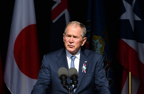 Bush calls for nation to unite 20 years after 9/11