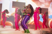 Lizzo returned with a new backing band and 14-piece dance troupe for a sold-out show Saturday at Treasure Island amphitheater, her first concert since
