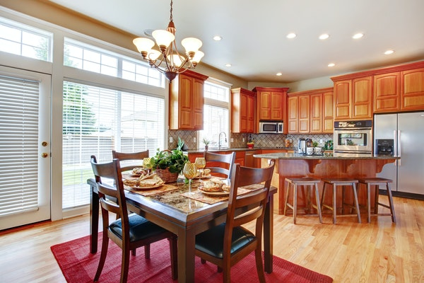 Adding a rug can easily add warmth to the kitchen.