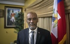 Haiti's acting prime minister, Ariel Henry, at his residence in Port-au-Prince on Aug. 3, 2021.