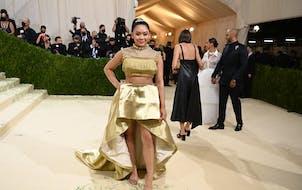 Sunisa Lee at the Metropolitan Museum of Art's Costume Institute benefit gala in New York, Sept. 13, 2021.