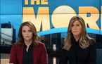 """Reese Witherspoon, left, and Jennifer Aniston in """"The Morning Show."""""""