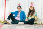 Joe Paris Christensen, left, and Cameron Kinghorn worked on King Pari's new EP during quarantine.
