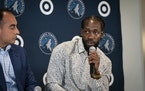 Patrick Beverley answered media questions as he was introduced as a new member of the Timberwolves on Wednesday at Target Center.