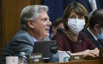 House Energy and Commerce Chairman Frank Pallone, D-N.J., with Rep. Cathy McMorris Rodgers, R-Wash., right, the ranking member, as they continue work