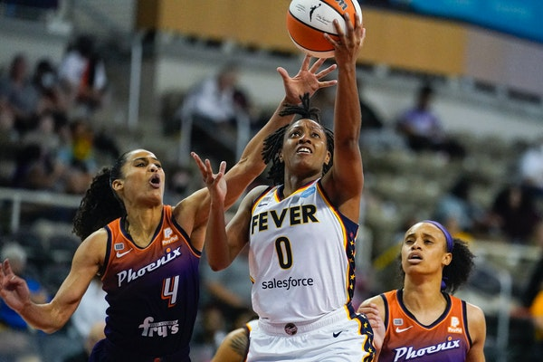 Kelsey Mitchell is the Fever's leading scorer.