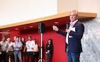 Target CIO Mike McNamara talks during a 2018 Demo Day kickoff. Photo courtesy Target