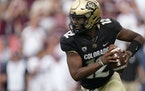 Colorado quarterback Brendon Lewis (12) rushed for 76 yards in last week's 10-7 loss to Texas A&M.