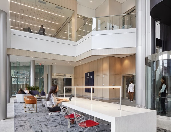 The $20 million renovations in Two22 Tower in Minneapolis are now complete.