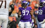 Everson Griffen during Sunday's game in Cincinnati.