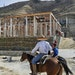 El Santuario Frontera, near Tijuana's border with San Diego, is planned to house 350 migrants who will build inside the pavilions.