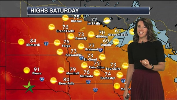 Morning forecast: 75, sunny, gusty winds