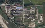 In this Saturday, Sept. 18, 2021, satellite photo, a uranium enrichment plant is seen at North Korea's main Yongbyon nuclear complex.