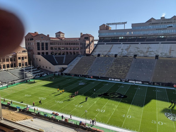 Folsom Field on Saturday morning before the Gophers-Colorado game.