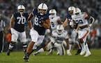 Penn State tight end Brenton Strange breaks away from the Auburn defense in the fourth quarter