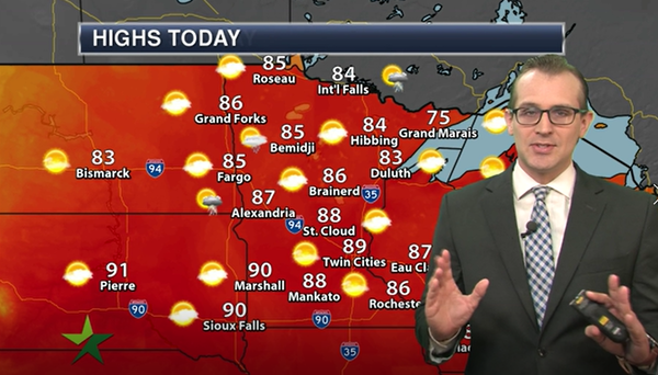 Morning forecast: Hot and breezy, high of 89