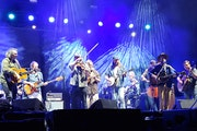 """Trampled by Turtles' members all joined in for Wilco's finale """"California Stars"""" at Treasure Island Casino Amphitheater on Saturday."""