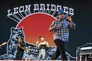 Leon Bridges performing at August's Railbird Music Festival in Lexington, Ky.