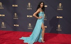 Mj Rodriguez arrives at the 73rd Primetime Emmy Awards on Sunday, Sept. 19, 2021, at L.A. Live in Los Angeles.