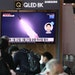 People watch a TV at the Seoul Railway Station showing a file image of a North Korean missile launch, on September 15, 2021 in Seoul, South Korea. The