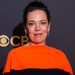 Olivia Colman posed for photographers as she arrives for the Netflix Celebration of the 73rd Primetime Emmy Awards in central London, Sunday, Sept. 19