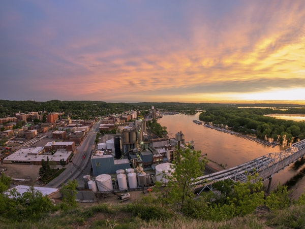 One of Red Wing's highpoints is the spectacular river views.