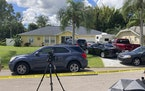 Law enforcement officials swarmed a home in North Port, Fla. on Monday, Sept. 20, 2021, in the disappearance of Gabby Petito, whose body was apparentl