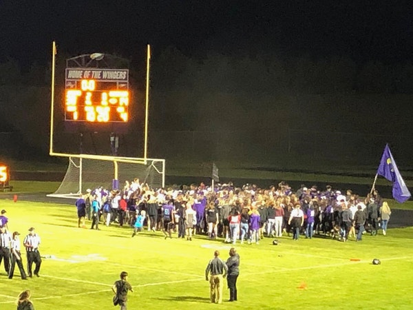 The party started rocking right on the field after Red Wing snapped its 41-game losing streak Friday night.