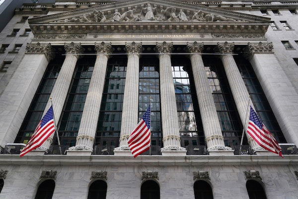 The New York Stock Exchange in New York. Stocks are opened broadly lower on Wall Street on Monday, extending a weak patch that has brought the U.S. ma