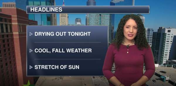 Evening forecast: Chance of showers and thunderstorms