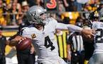 Quarterback Derek Carr has thrown for 817 yards in the Raiders' 2-0 start.
