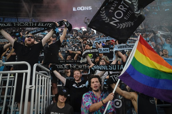 A sold-out crowd at Allianz Field sang Wonderwall after the Loons defeated Austin FC earlier this season.