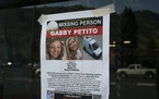 A Suffolk County Police Department missing person poster for Gabby Petito posted in Jackson, Wyo.