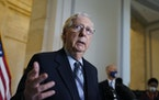 Senate Minority Leader Mitch McConnell, R-Ky., said he's not about to help pay off past debts when President Joe Biden is about to pile on more with