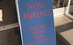 Jobs were available at a Duluth Walgreen's recently. Greater Minnesota metropolitan areas experienced labor force reductions last month.